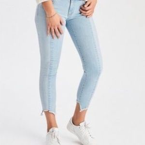 AE Colourblocked Cropped Skinny Jeans